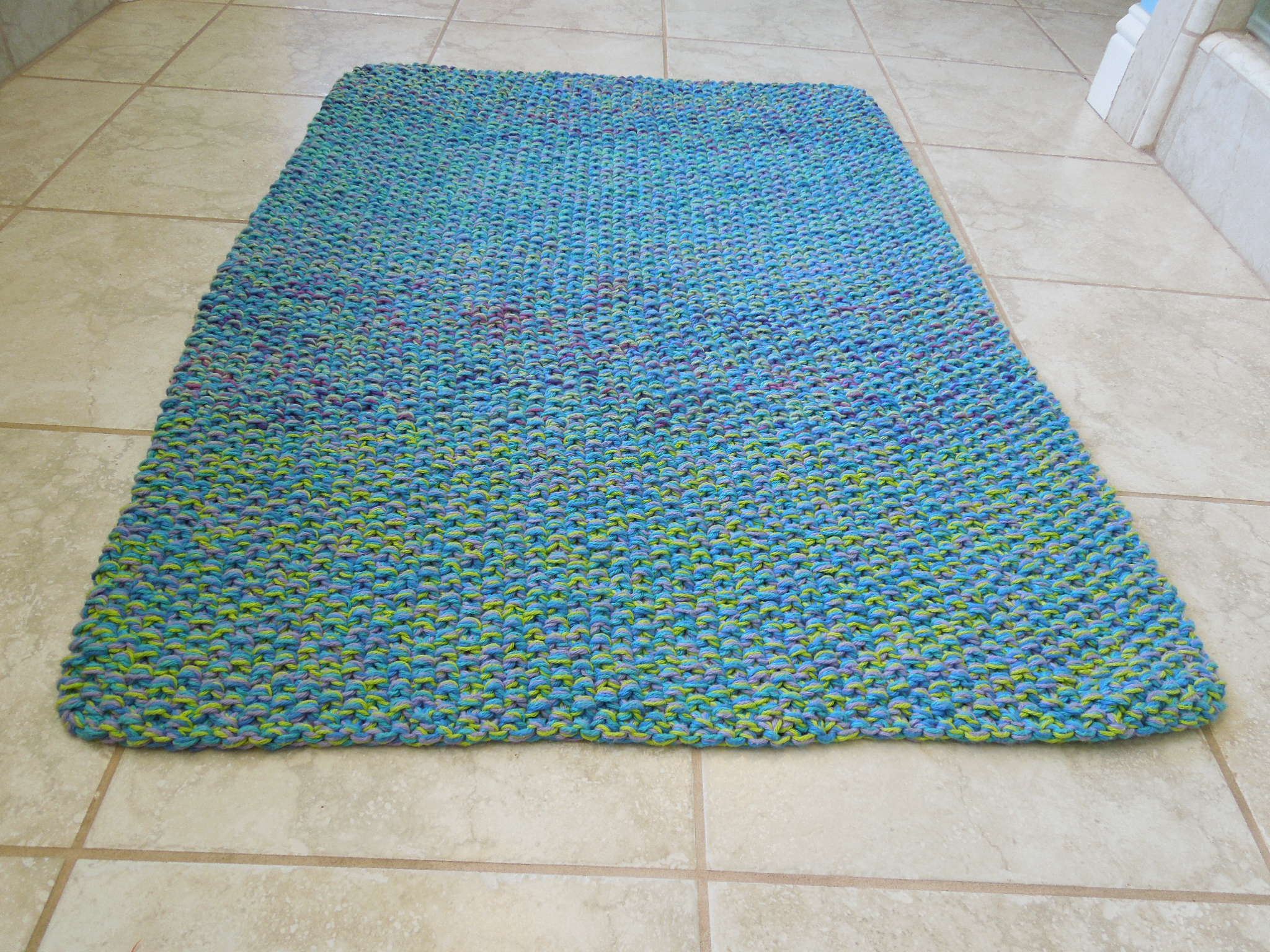 Cotton Bath Rug Knitting Pattern