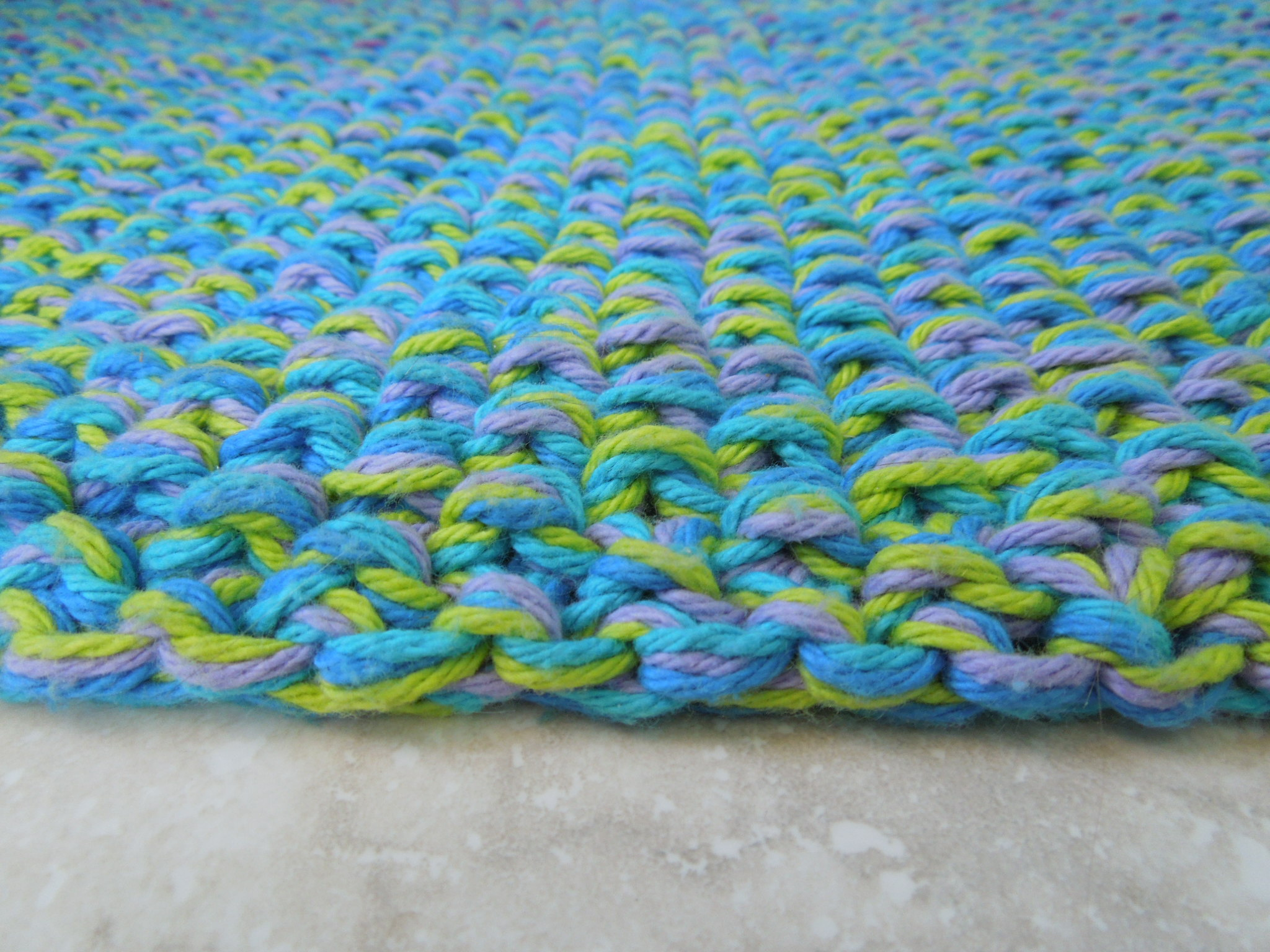 Knitting Pattern For Rug : Cotton Bath Rug Knitting Pattern