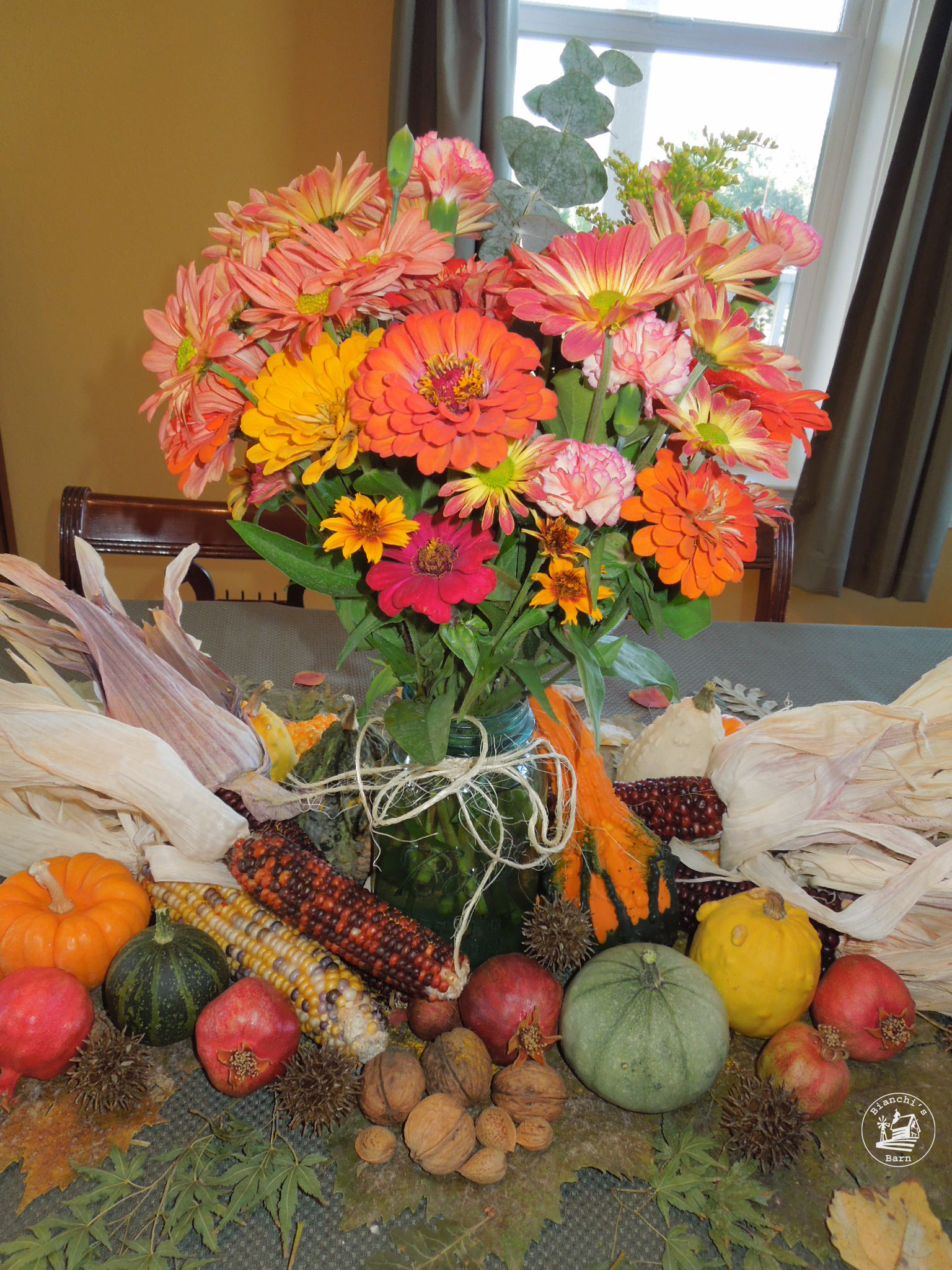 Fall table centerpiece revisited