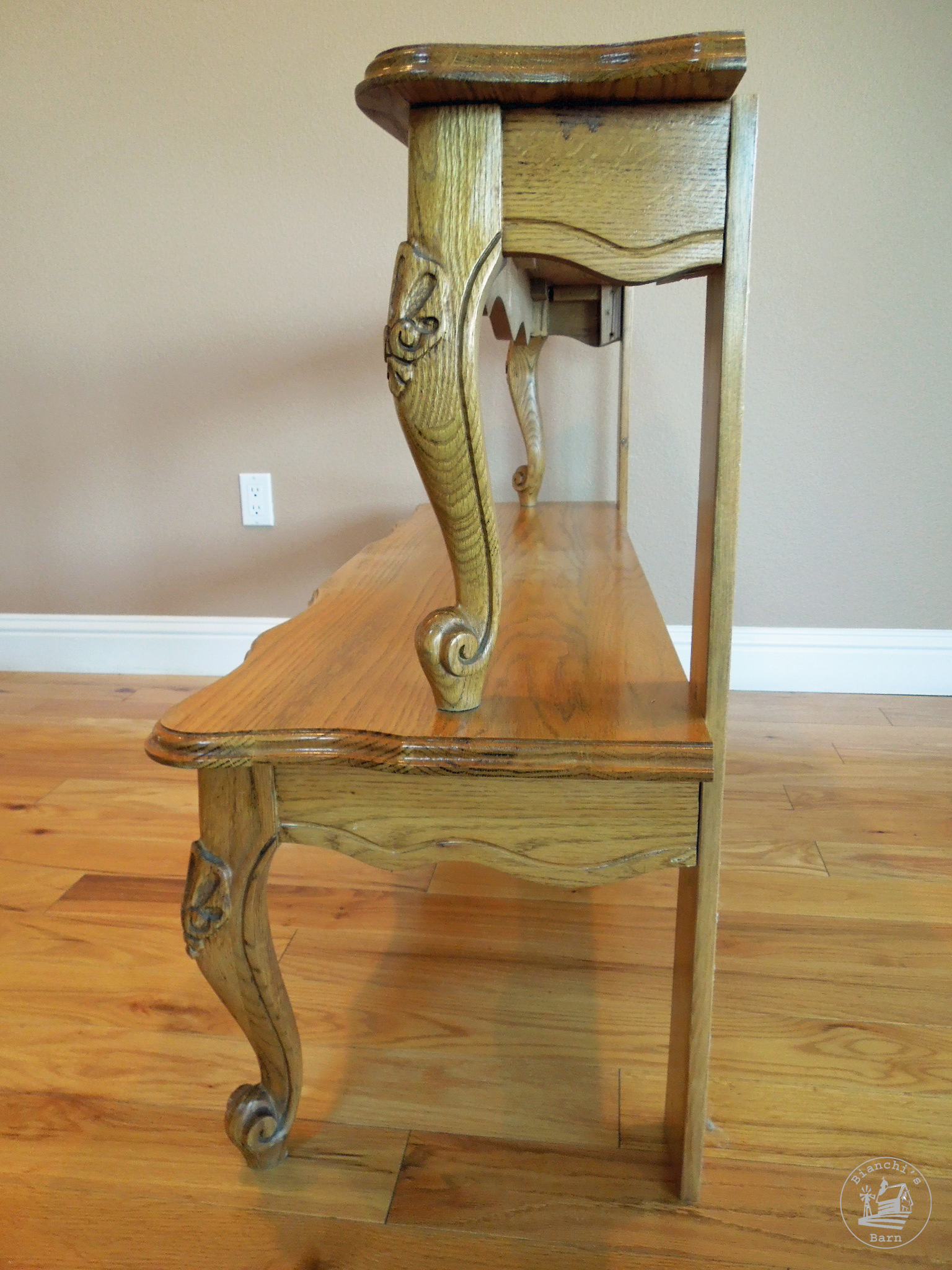 Entryway table repurposed from a coffee table for Other uses for a coffee table
