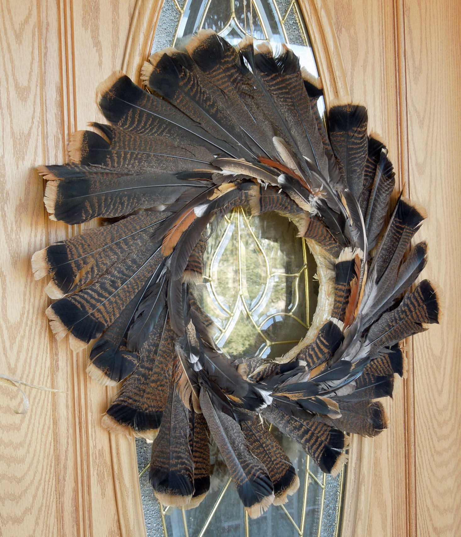 DIY Feather Thanksgiving Wreath Tutorial
