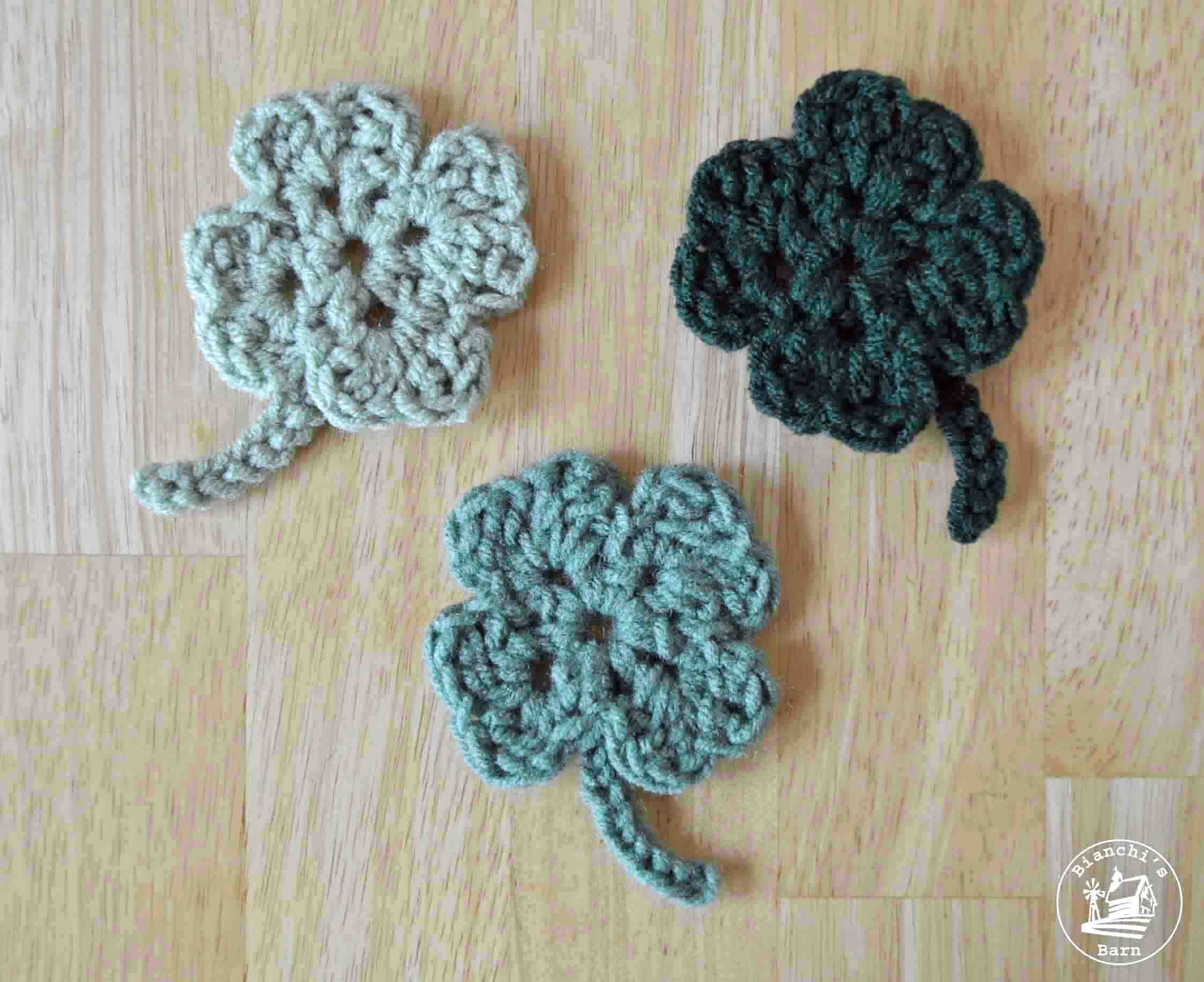 Free Crochet Patterns Four Leaf Clover : Lucky 4 Leaf Clover Free Crochet Pattern