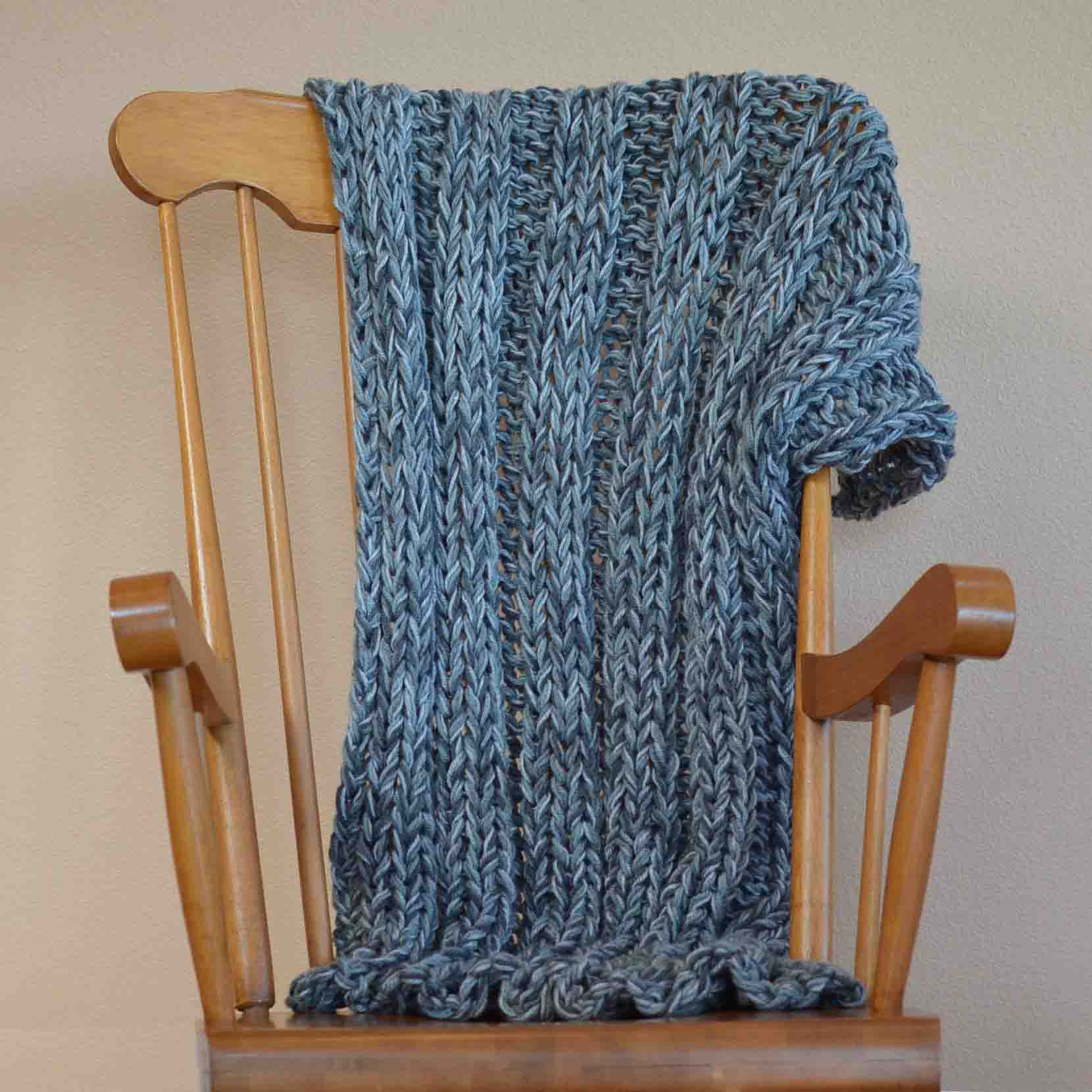 Bulky yarn afghan free knitting pattern bankloansurffo Images