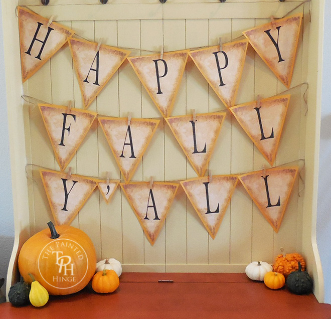 It is a picture of Sweet Fall Banner Printable