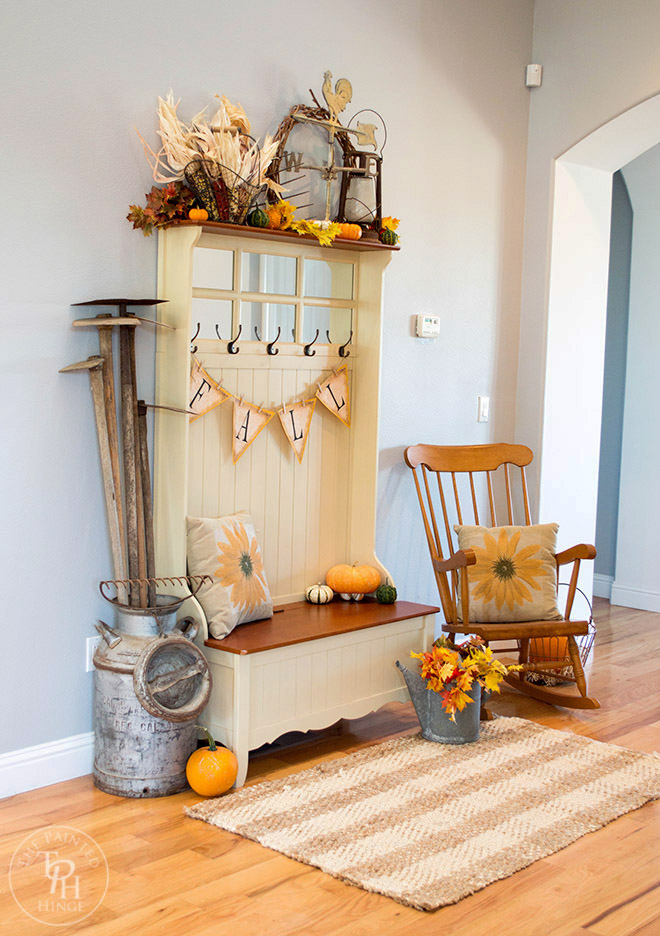 Fall-Farmhouse-Home-Tour-2015-Part-1-Entryway-2 Painted Kitchen Bench Ideas on painted globe ideas, painted floor ideas, painted chest ideas, painted railing ideas, painted door ideas, painted bookcase ideas, painted box ideas, painted chairs ideas, painted dresser ideas, painted mirror ideas, painted fence ideas, painted nike ideas, painted wall ideas, painted closet ideas, painted lamp ideas, painted bed ideas, painted bucket ideas, painted sled ideas, painted shelf ideas, painted sideboard ideas,